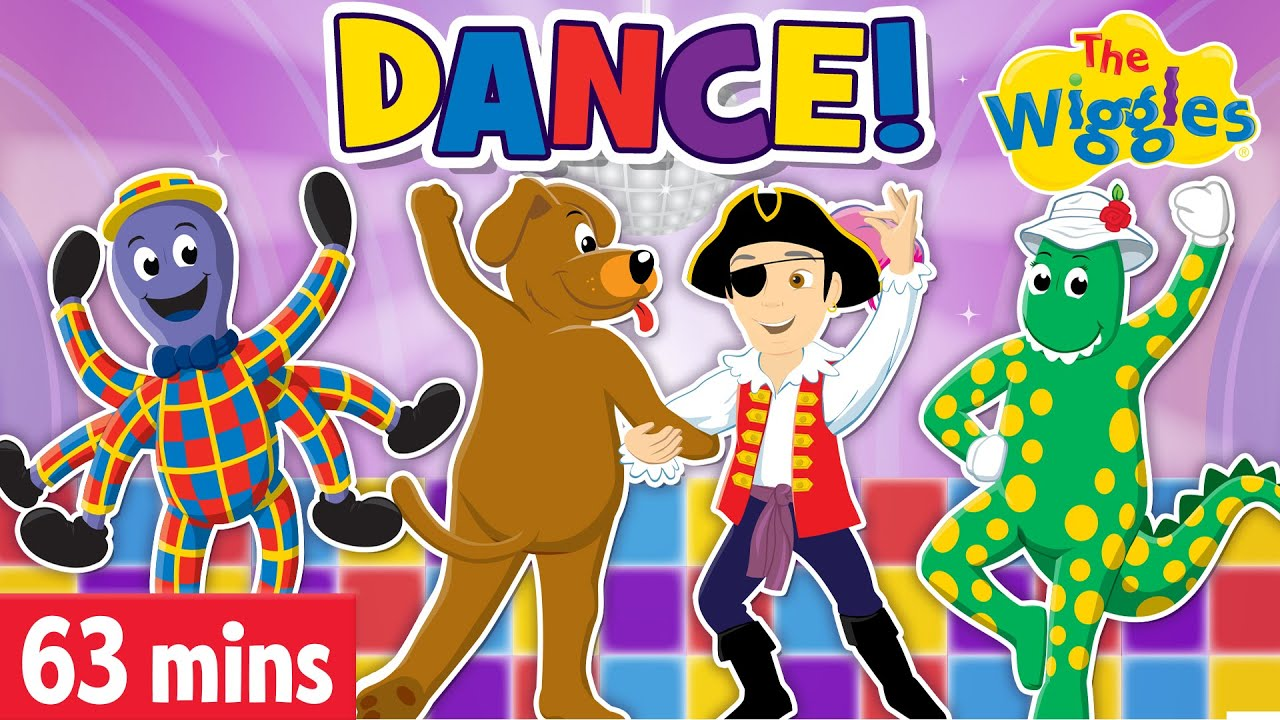 The Wiggles: Dance Party Fun! Dance with all Your Wiggly Friends! The Dance Song | Songs for Kids