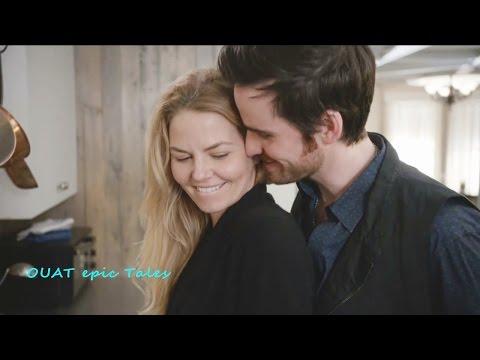 Once Upon A Time 6x18 Emma Hook Pancakes & Kisses - Am I interrupting something  Season 6 Episode 18