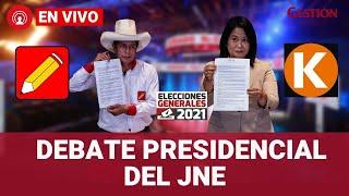 Debate Presidencial: Pedro Castillo y Keiko Fujimori exponen sus ideas