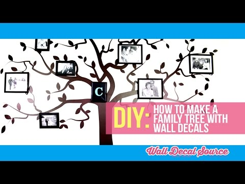 Do It Yourself: How to Make A Family Tree Wall Decal with Pictures