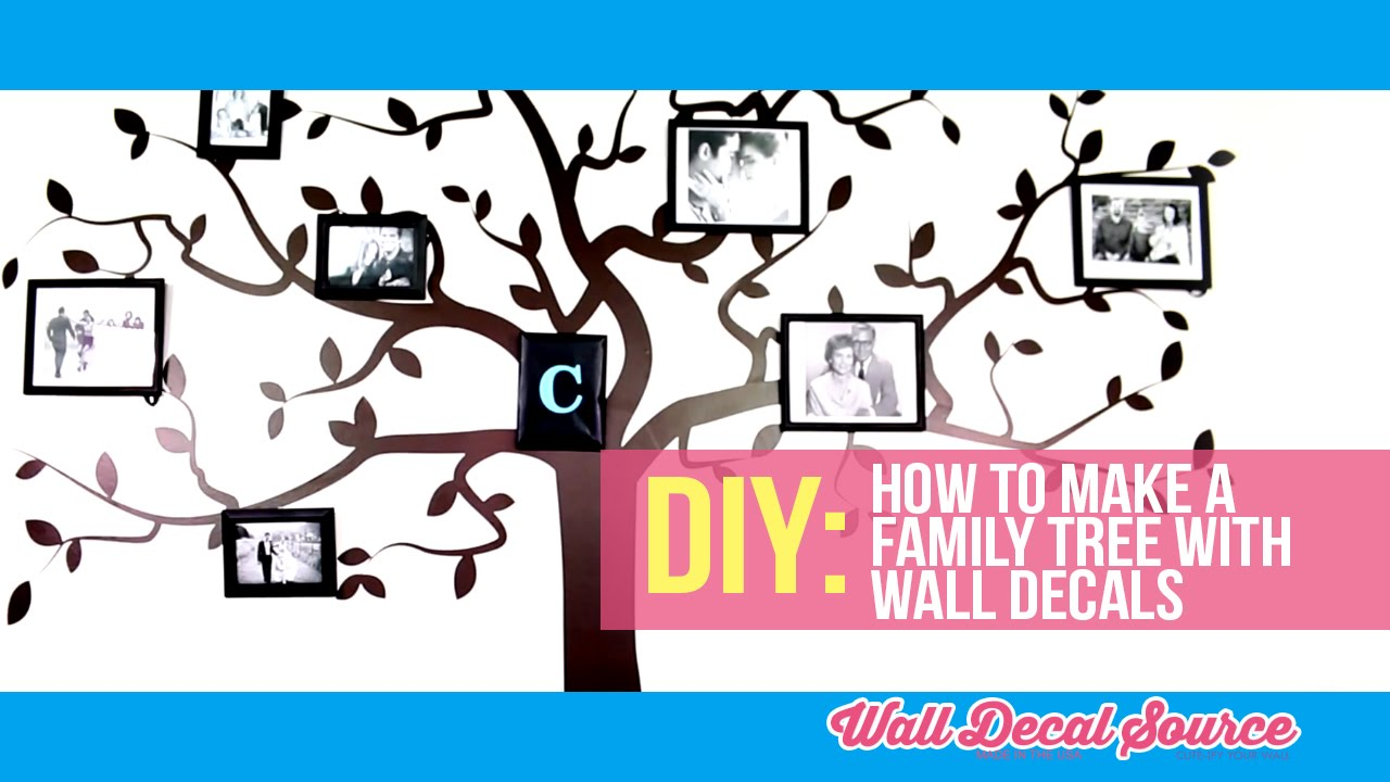 Family Tree Photo Wall do it yourself: how to make a family tree wall decal with pictures