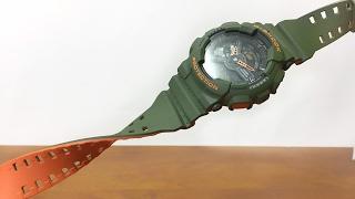 Casio G-SHOCK GA-110LN-3AJF Army Green Neon Orange unboxing & review