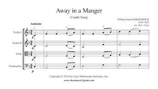 Kirkpatrick : Away in a Manger - String Quartet