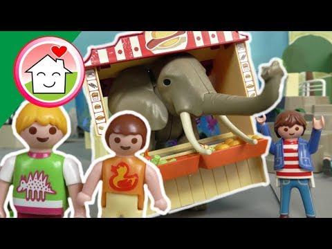 الفيل الهربان في حديقة الحيوان - عائلة عمر - جنه ورؤى