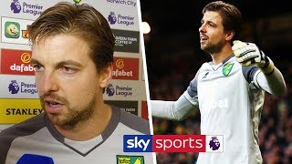 Tim Krul reveals what he said to Mesut Ozil after Aubameyang's penalty controversy | Post Match