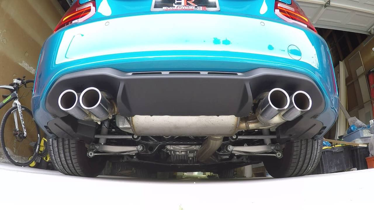 bmw m2 stock exhaust w er downpipe revs and sound youtube. Black Bedroom Furniture Sets. Home Design Ideas