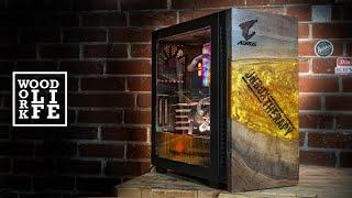 Golden Epoxy Wooden watercooled PC casemod | EPIC Wooden PC Builds