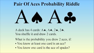 Can You Solve The Pair Of Aces Problem, A Classic Probability Puzzle?