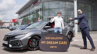 BOTB Winner Robbie Pople collects his Honda Civic Type R GT!