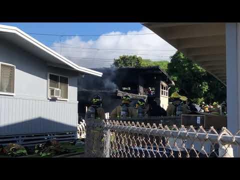 [RAW] Fatal house fire in Kaimuki