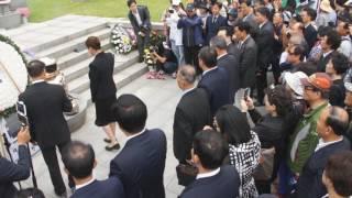 현충일_ 울음소리 흐르던 박정희대통령묘역 참배한 조원진과 지지자