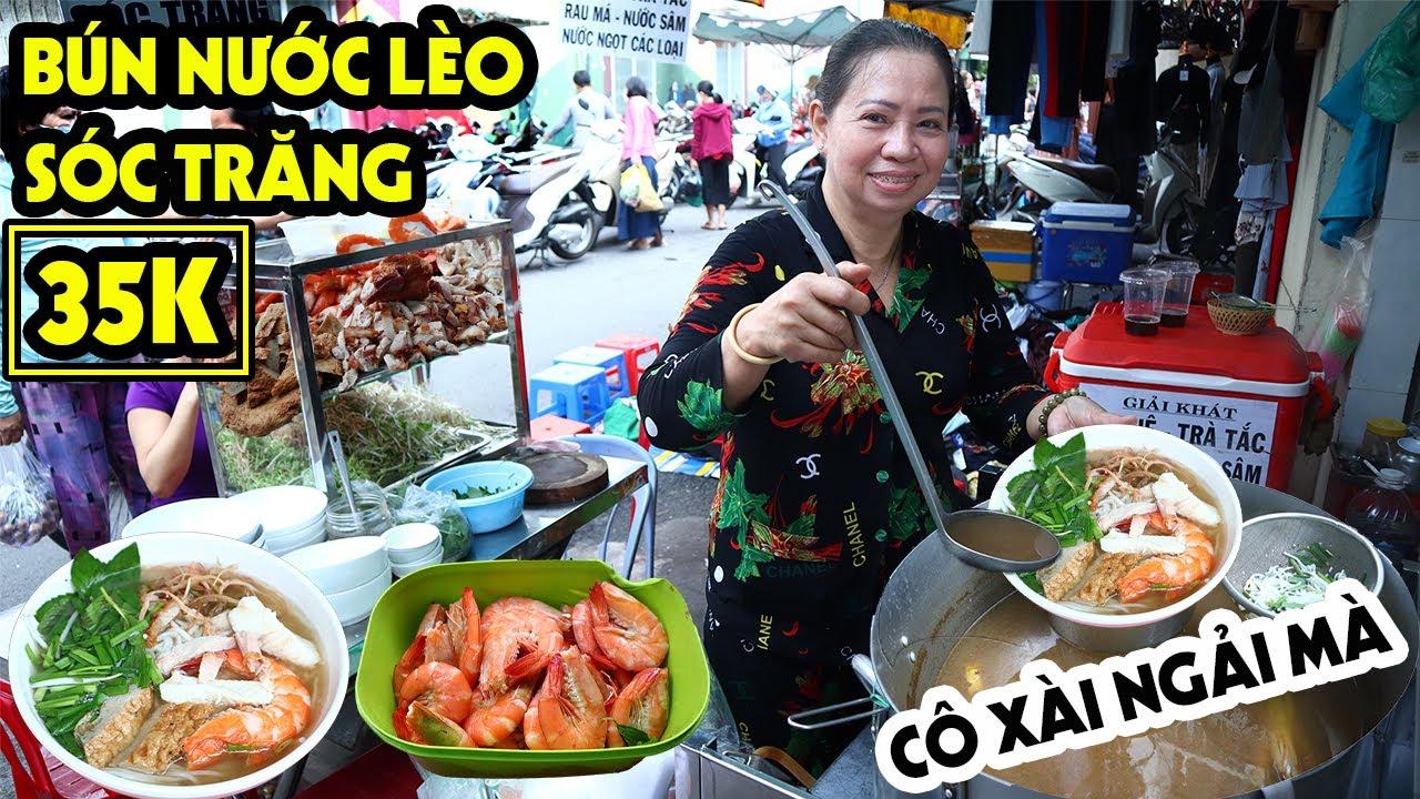 Hấp Dẫn BÚN NƯỚC LÈO SÓC TRĂNG 35K Của Cô Liễu Ở Chợ Bàn Cờ Dùng NGẢI Làm Mê Mẫn Người Sài Gòn