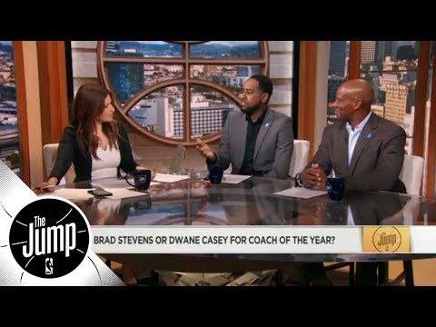Celtics' Brad Stevens or Raptors' Dwane Casey for coach of the year? | The Jump | ESPN