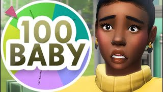 HER WATER BROKE! 👶💦  | THE SIMS 4 // MYSTERY WHEEL 100 BABY CHALLENGE — 35