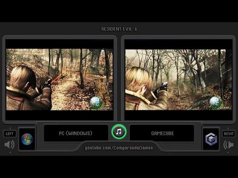 Resident Evil 4 Pc Vs Gamecube Side By Side Comparison Biohazard 4 Youtube