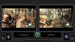 Resident Evil 4 (Pc vs Gamecube) Side by Side Comparison (Biohazard 4)