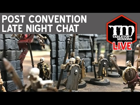 Post Game Convention Late Night Chat LIVE