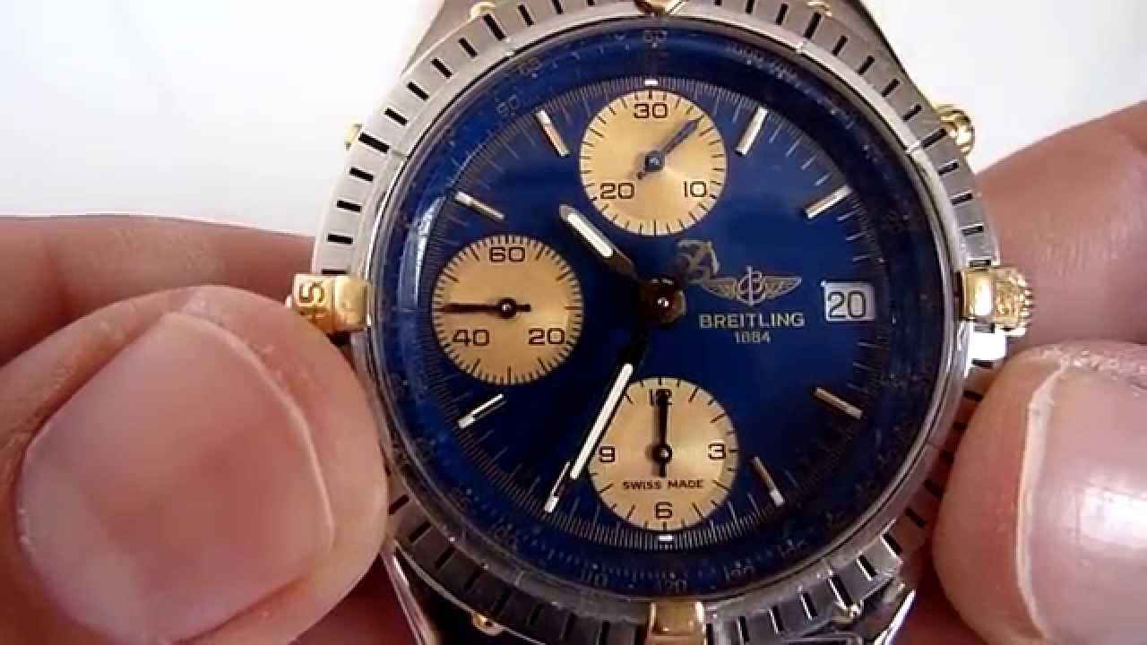 ffd12fa0b688 Reloj Breitling Automático Cronográfo Carátula Azúl. - YouTube