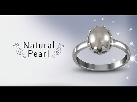 Natural Pearl Ring for Moon Powers in Vedic Astrology