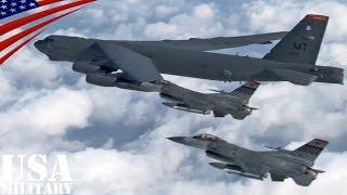 B-52爆撃機の韓国上空での示威飛行・空撮映像 - U.S. B-52 Bomber Flies Over South Korea Aerial View