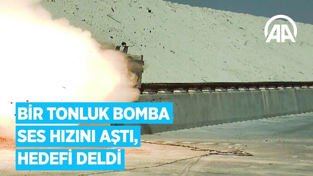 Bir tonluk bomba ses hızını aştı, hedefi deldi