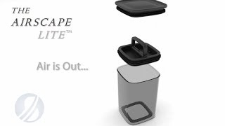 The AirScape Lite Kitchen Canisters for Food Storage