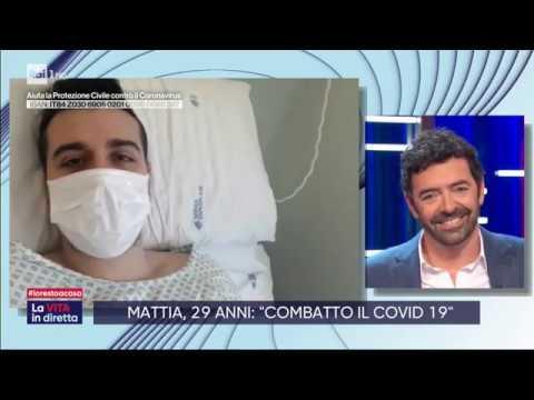 Mattia De Angelis, 29 anni: 'Combatto il Covid 19' - La vita in diretta 23/03/2020