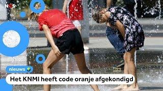 Code oranje en hitteplan vanwege tropisch weer