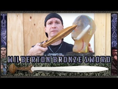 Neil Burridge's Wilberton Bronze Sword tested on Analog Ballistic Gel Head!