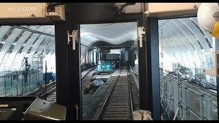 【後方・側面展望】東京メトロ銀座線 表参道~移設工事中の渋谷駅ホーム 2019年11月