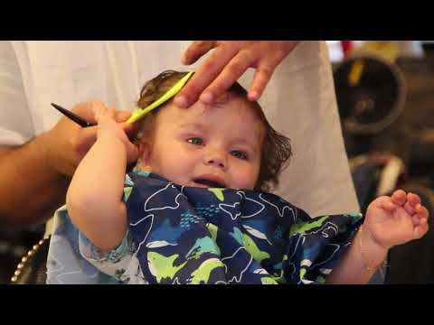 Father Barber And Son First Haircut Youtube
