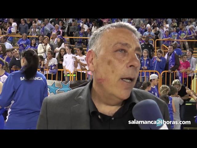 Reacción de Miguel Ángel Ortega tras ganar la Liga con Perfumerías Avenida