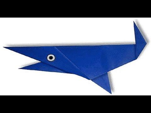 origami shark. оригами акула.