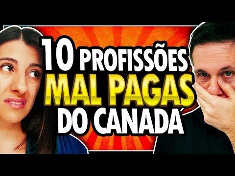 10 PROFISSÕES MAIS MAL PAGAS NO CANADÁ - TRABALHAR NO CANADÁ