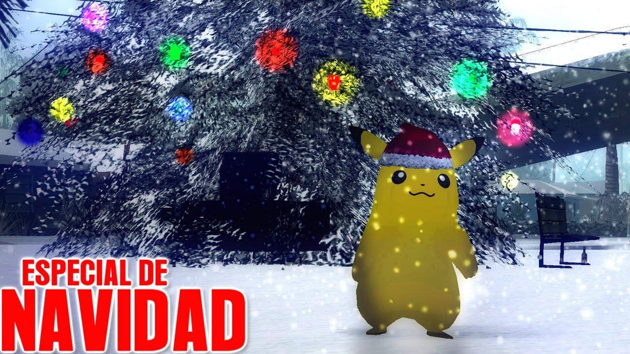 una navidad con pikachu gta san andreas loquendo especial de navidad