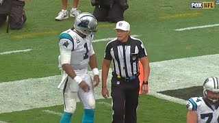 Cam Newton Won't Let Di*khead Ref Stop Him From Giving Kid Football