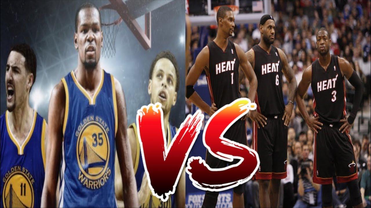 Miami heat lebron jamess vs golden state warriors nba2k17 miami - 3 Youtubers Play As The Golden State Warriors And Take On The Old Miami Heat Big Three Nba 2k17 Youtube