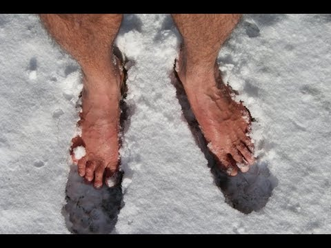 Barefoot In The Snow At Minus 12 7 Degrees Celsius 9 Degrees Fahrenheit 260 38 Kelvin