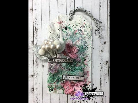 Christmas Texture Tag for Wild Orchid Craft