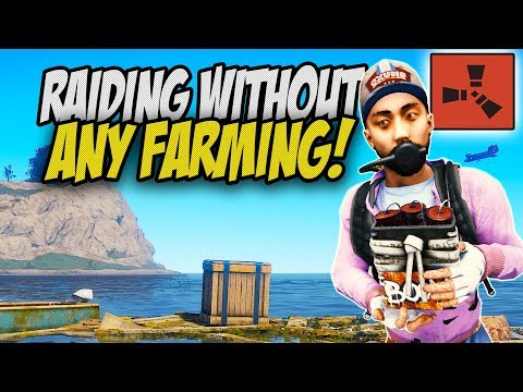Raiding TWO Bases without FARMING!  - Rust Solo Survival Gameplay