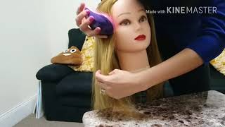 Asmr request: Brushing doll's hair & foamy hair wash thumbnail