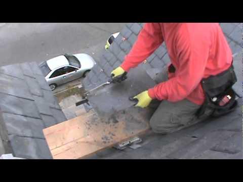 Cutting Slate with Stake & Hammer - YouTube