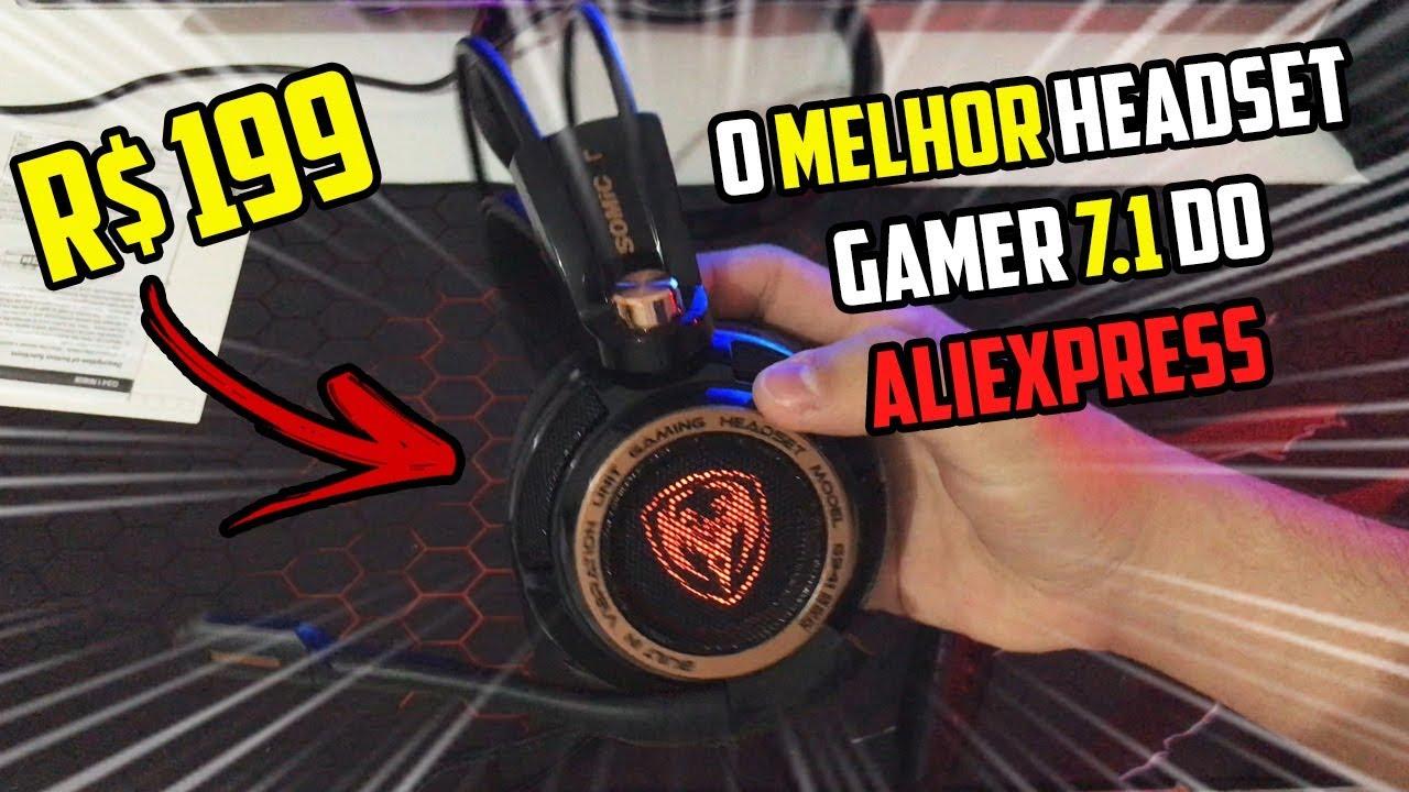 R$ 200 | O MELHOR HEADSET GAMER 7.1 DO ALIEXPRESS (Cancela Ruídos) SOMIC G941