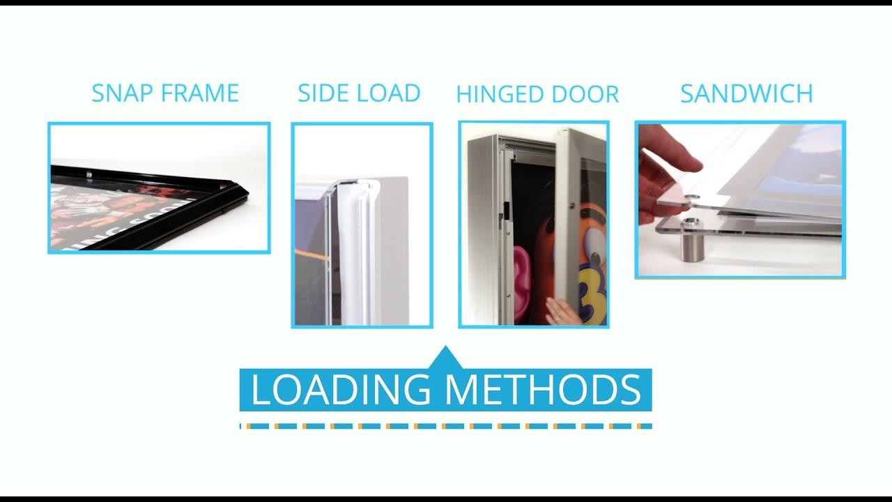 Top 4 Loading Methods for Backlit Lightboxes - YouTube