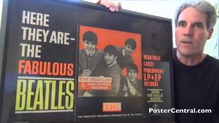 Beatles 1963 Promotional EMI Records Countertop Store Display thumbnail