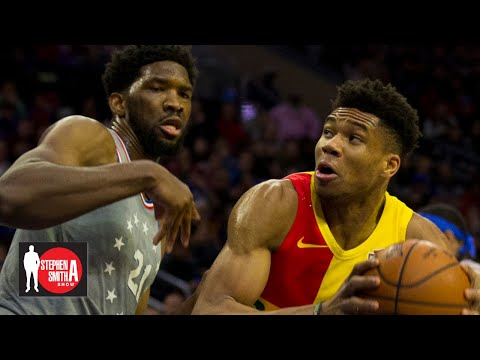 Joel Embiid should be more of a 'monster' like Giannis Antetokounmpo   Stephen A. Smith Show