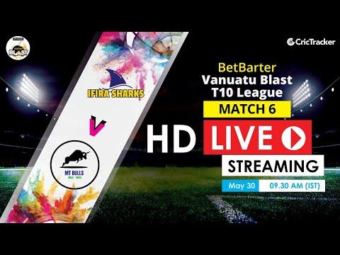 Vanuatu Blast T10 League 2020 Live Streaming: 6th Match MT Bulls Vs Ifira Sharks