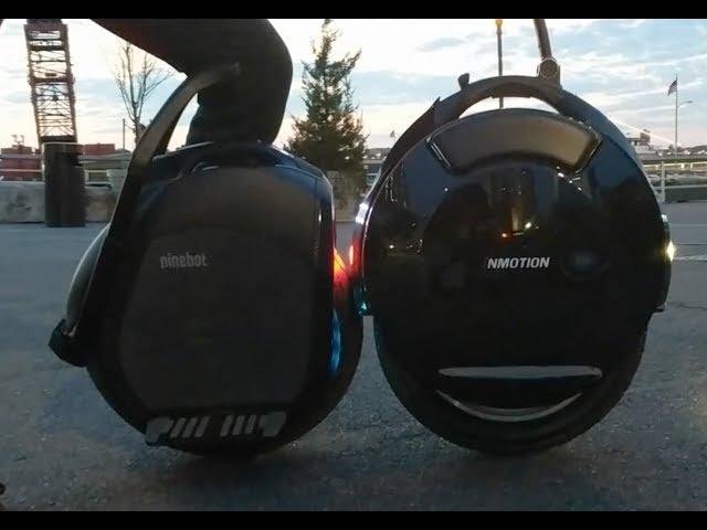 Ninebot One Z10 vs Inmotion V10F (Z10 vs V10) - YouTube