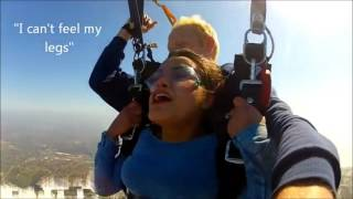 Girl having orgasms while skydiving
