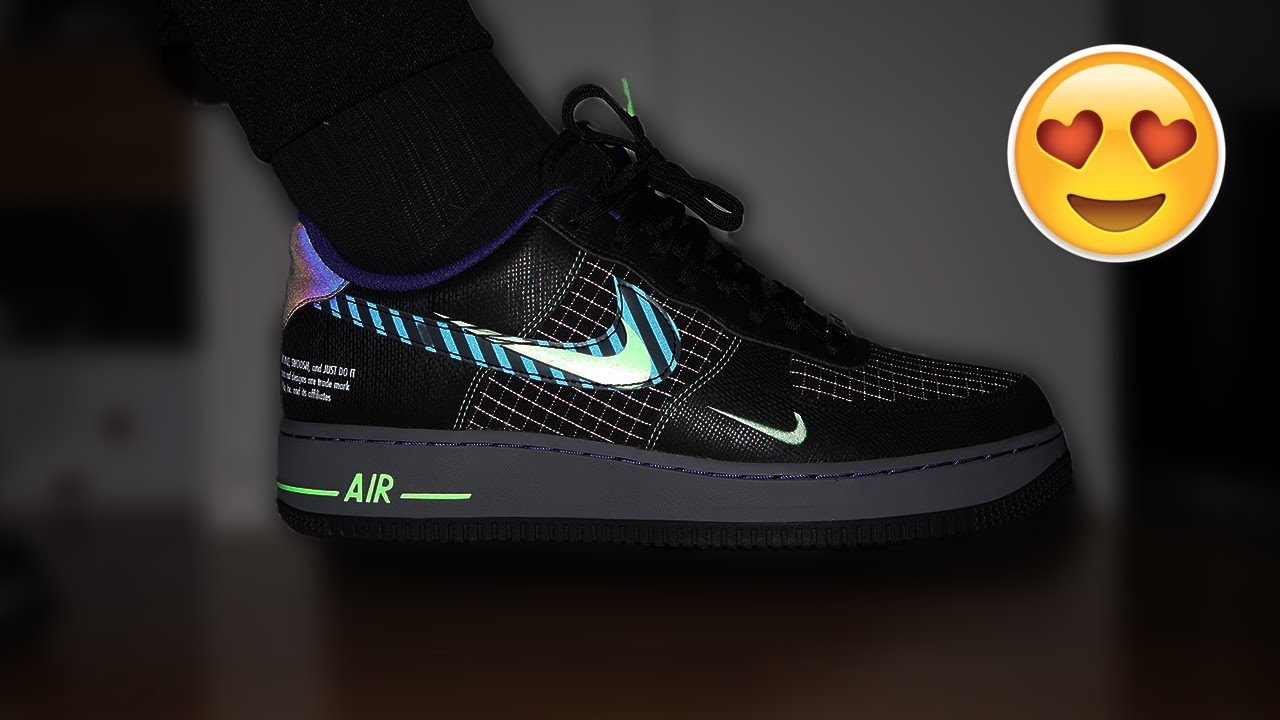 El diseño Instrumento operación  CAN'T BELIEVE THEY R NOT SOLD OUT!!! AIR FORCE 1 '07 LV8 BLACK/VAPOR GREEN  REVIEW/ON-FEET - YouTube